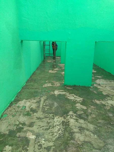 污水池玻璃雷竞技官网网站施工
